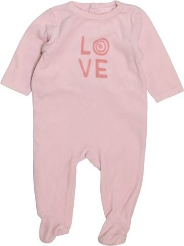 Pyjama 1 pièce fille KIMBALOO violet 3 mois hiver #1443953_1