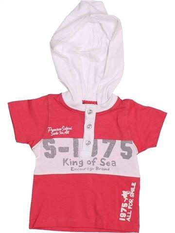 T-shirt manches courtes garçon TAPE À L'OEIL rouge 9 mois été #1444296_1