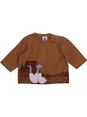 T-shirt manches longues garçon PETIT BATEAU marron 3 mois hiver #1444400_1