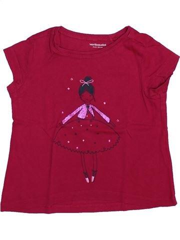 T-shirt manches courtes fille VERTBAUDET violet 2 ans été #1444543_1