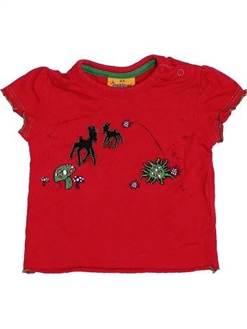 T-shirt manches courtes fille IMPIDIMPI rouge 6 mois été #1445370_1