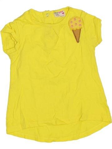 T-shirt manches courtes fille PRENATAL jaune 12 mois été #1445552_1