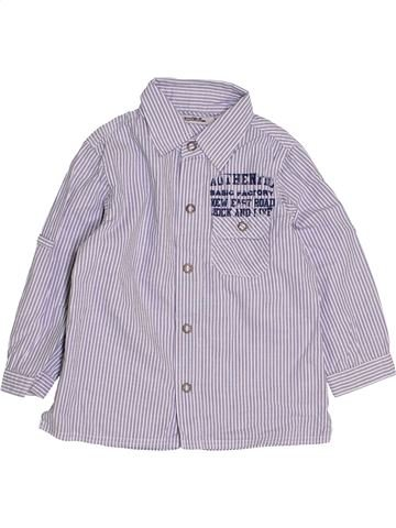 Chemise manches longues garçon TAPE À L'OEIL gris 4 ans hiver #1445725_1