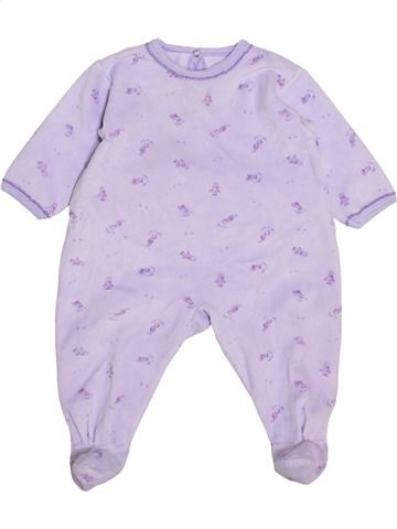 Pijama de 1 pieza niña PETIT BATEAU gris 6 meses invierno #1446267_1