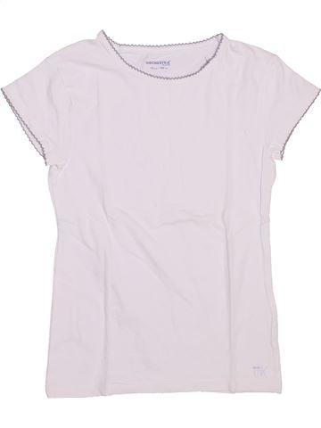 T-shirt manches courtes fille ORCHESTRA blanc 10 ans été #1446484_1