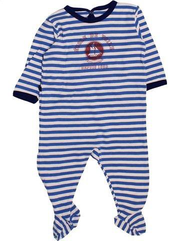 Pyjama 1 pièce garçon PETIT BATEAU bleu 6 mois hiver #1446979_1