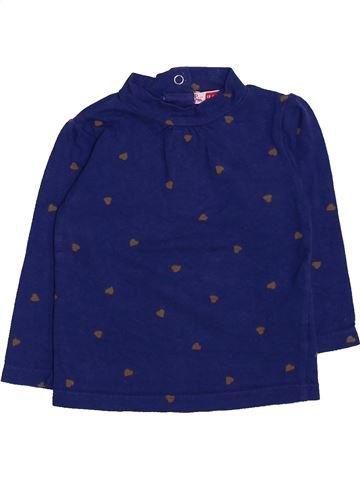 T-shirt manches longues fille DPAM bleu 12 mois hiver #1447482_1