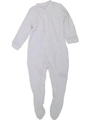 Pyjama 1 pièce unisexe MOTHERCARE blanc 18 mois été #1447491_1