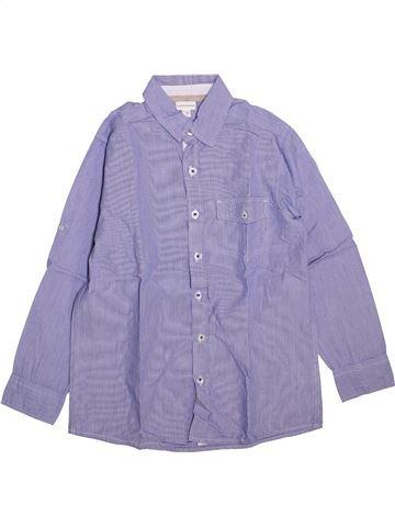 Chemise manches longues garçon VERTBAUDET violet 10 ans hiver #1447688_1