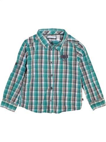 Chemise manches longues garçon OKAIDI bleu 3 ans hiver #1447744_1