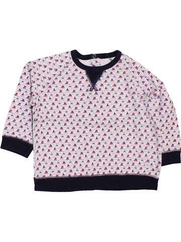 T-shirt manches longues garçon PETIT BATEAU blanc 12 mois hiver #1448077_1