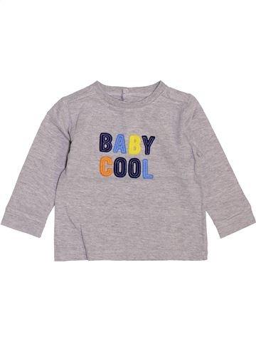 Camiseta de manga larga niño BOUT'CHOU gris 12 meses invierno #1448097_1