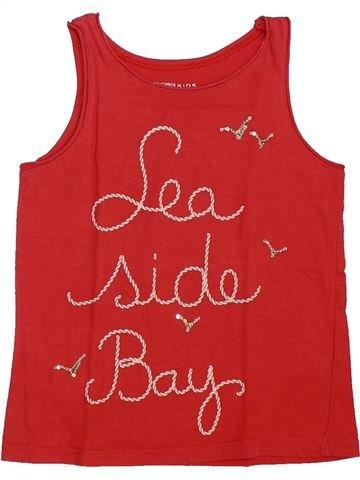 T-shirt sans manches fille MONOPRIX rouge 3 ans été #1448114_1