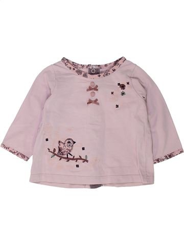 T-shirt manches longues fille SERGENT MAJOR rose 6 mois hiver #1448701_1