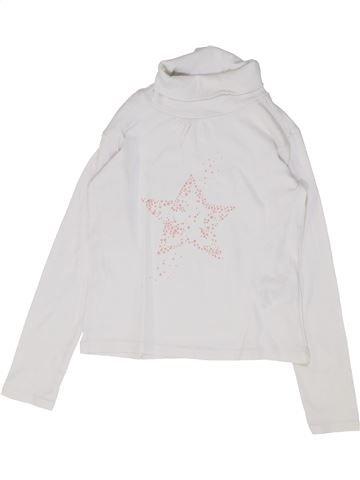 Camiseta de cuello alto niña VERTBAUDET blanco 8 años invierno #1448819_1