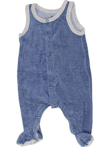 Pyjama 1 pièce garçon PETIT BATEAU bleu 1 mois hiver #1449277_1