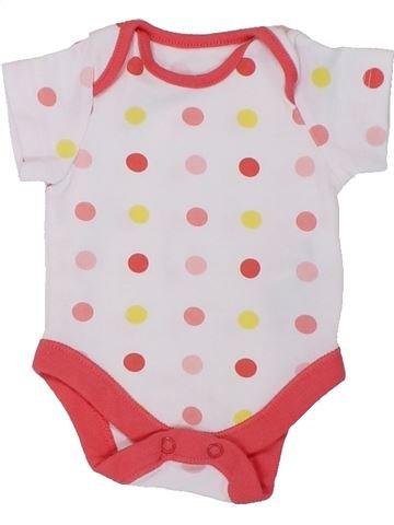 T-shirt manches courtes fille F&F blanc naissance été #1449415_1