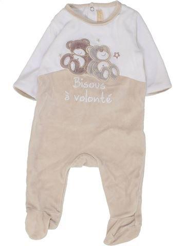Pyjama 1 pièce garçon GEMO blanc 3 mois hiver #1449422_1