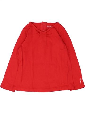 T-shirt manches longues fille KIMBALOO rouge 2 ans hiver #1449561_1