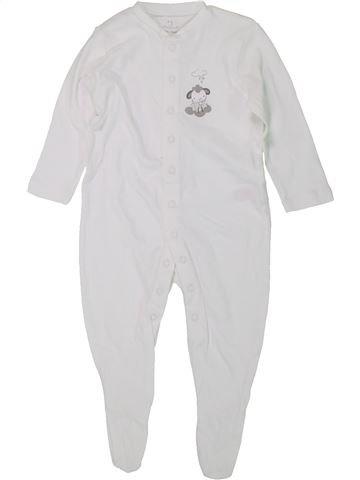 Pyjama 1 pièce garçon PRIMARK blanc 9 mois été #1449566_1
