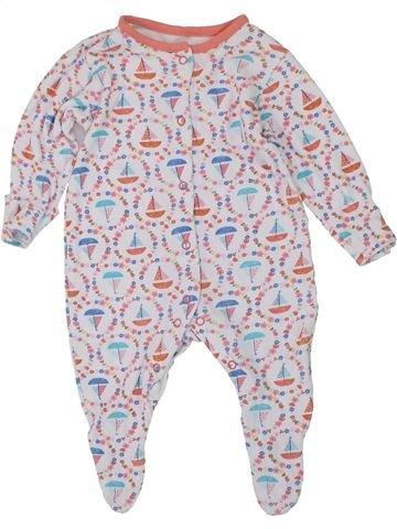 Pijama de 1 pieza niña TU blanco 3 meses verano #1450223_1