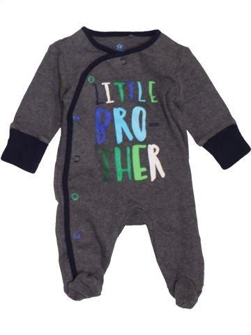 Pyjama 1 pièce garçon NEXT gris naissance été #1450650_1
