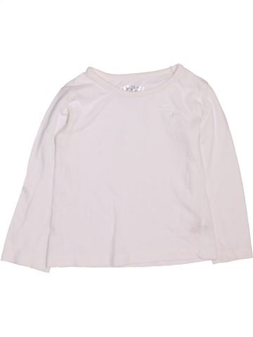 T-shirt manches longues fille DUNNES STORES blanc 3 ans hiver #1450675_1