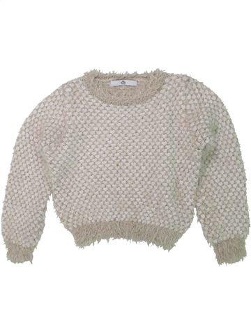 Pull fille MARKS & SPENCER beige 8 ans hiver #1450830_1