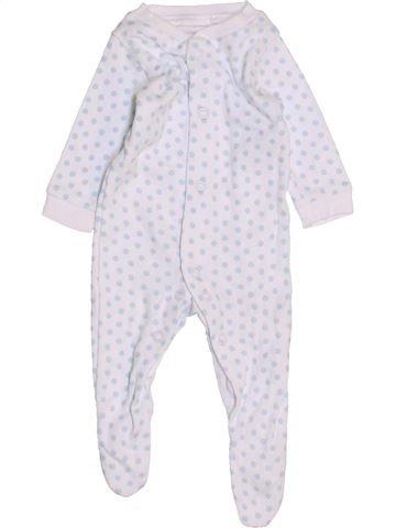 Pyjama 1 pièce unisexe F&F blanc naissance été #1451844_1