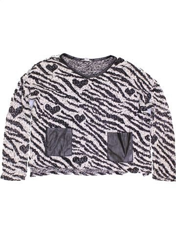 Pull fille RIVER ISLAND blanc 12 ans hiver #1453383_1
