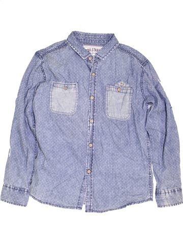 Chemise manches longues garçon SOULSTAR bleu 12 ans hiver #1453484_1