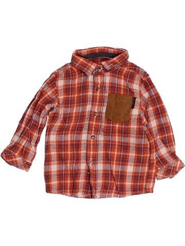 Camisa de manga larga niño VERTBAUDET violeta 6 meses invierno #1453848_1