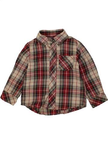 Chemise manches longues garçon ZY marron 18 mois hiver #1453956_1