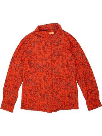 Chemise manches longues garçon FRED & GINGER rouge 8 ans hiver #1454216_1