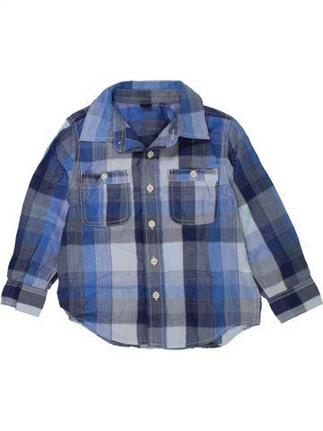 Chemise manches longues garçon GAP bleu 4 ans hiver #1454258_1