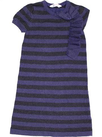 Vestido niña H&M azul 8 años invierno #1454386_1
