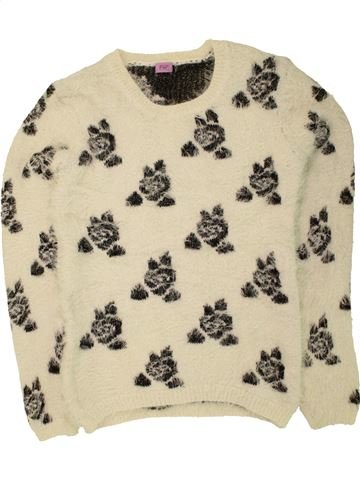 Pull fille F&F blanc 14 ans hiver #1454549_1