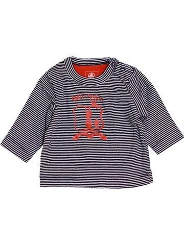 Camiseta de manga larga niño PETIT BATEAU violeta 3 meses invierno #1454793_1