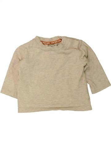 T-shirt manches longues garçon ROCHA LITTLE ROCHA beige 3 mois hiver #1455153_1