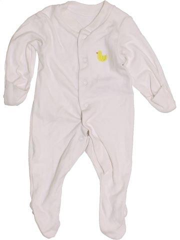 Pijama de 1 pieza unisex MARKS & SPENCER blanco 0 meses verano #1455373_1