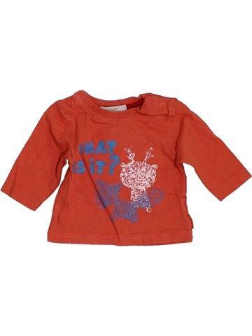 T-shirt manches longues garçon PREMAMAN orange 1 mois hiver #1455673_1