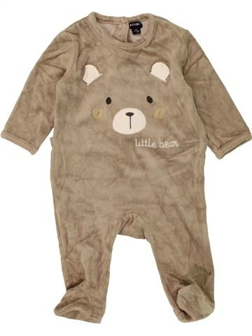 Pijama de 1 pieza unisex KIABI marrón 6 meses invierno #1456350_1