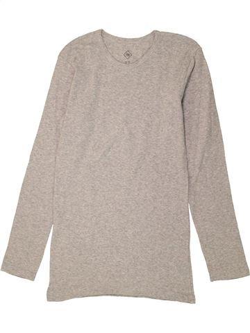 T-shirt manches longues garçon TEX gris 12 ans hiver #1456359_1