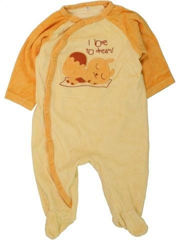 Pijama de 1 pieza niño SANS MARQUE amarillo 6 meses invierno #1457229_1