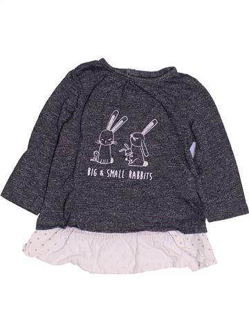 T-shirt manches longues fille KIABI gris 6 mois hiver #1457363_1