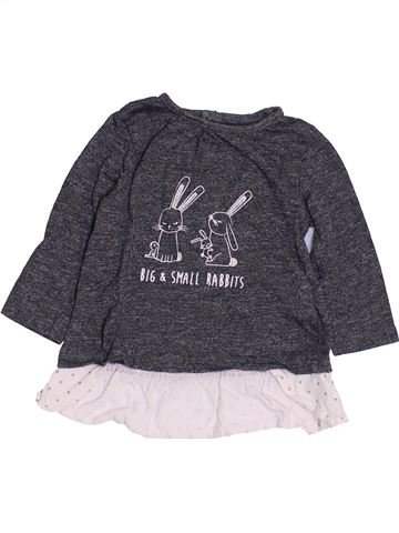 Camiseta de manga larga niña KIABI gris 6 meses invierno #1457363_1