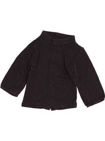 T-shirt col roulé fille KIABI marron 3 mois hiver #1457709_1