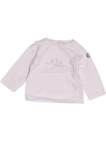 T-shirt manches longues garçon OKAIDI blanc 6 mois hiver #1457726_1