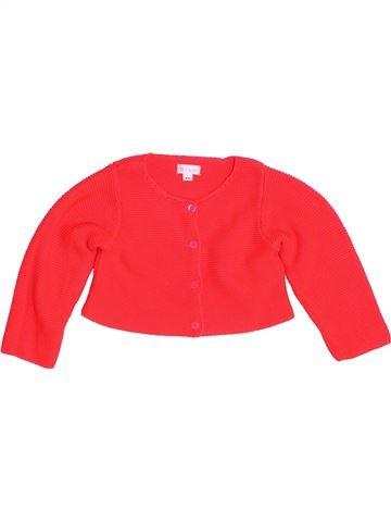 Gilet fille BRIOCHE rouge 9 mois hiver #1457730_1