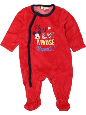 Pijama de 1 pieza niño DISNEY rojo 6 meses invierno #1457818_1
